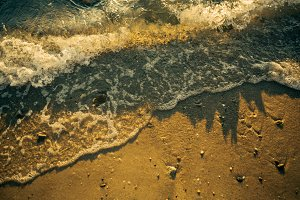 Waves Over Sand
