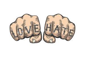 Epic fail words tattoo font vector