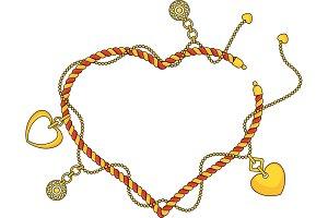 Heart shape frame as Trendy braselet