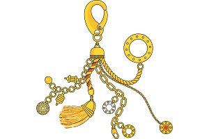 Trendy pendant with chains, pendants