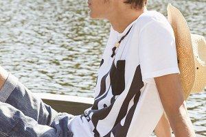 teenage boy outdoors
