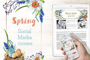 Spring Social Media Cover Template