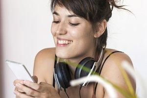 Beautiful smiling young woman workin