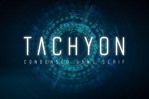 Tachyon Font - Condensed Sans Serif