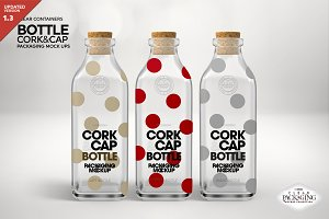 Cork & Cap Bottle Packaging Mockup