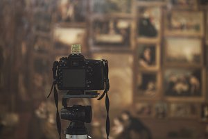 A DSLR Digitizing a Painting