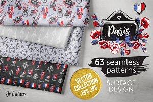 Paris Fashion Fabric 63 Patterns Kit