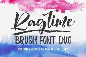 Ragtime - Brush Font Duo