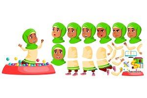 Arab, Muslim Girl Kindergarten Kid