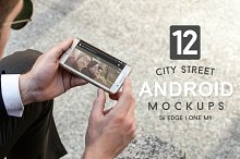 12 City Street Android Mockups