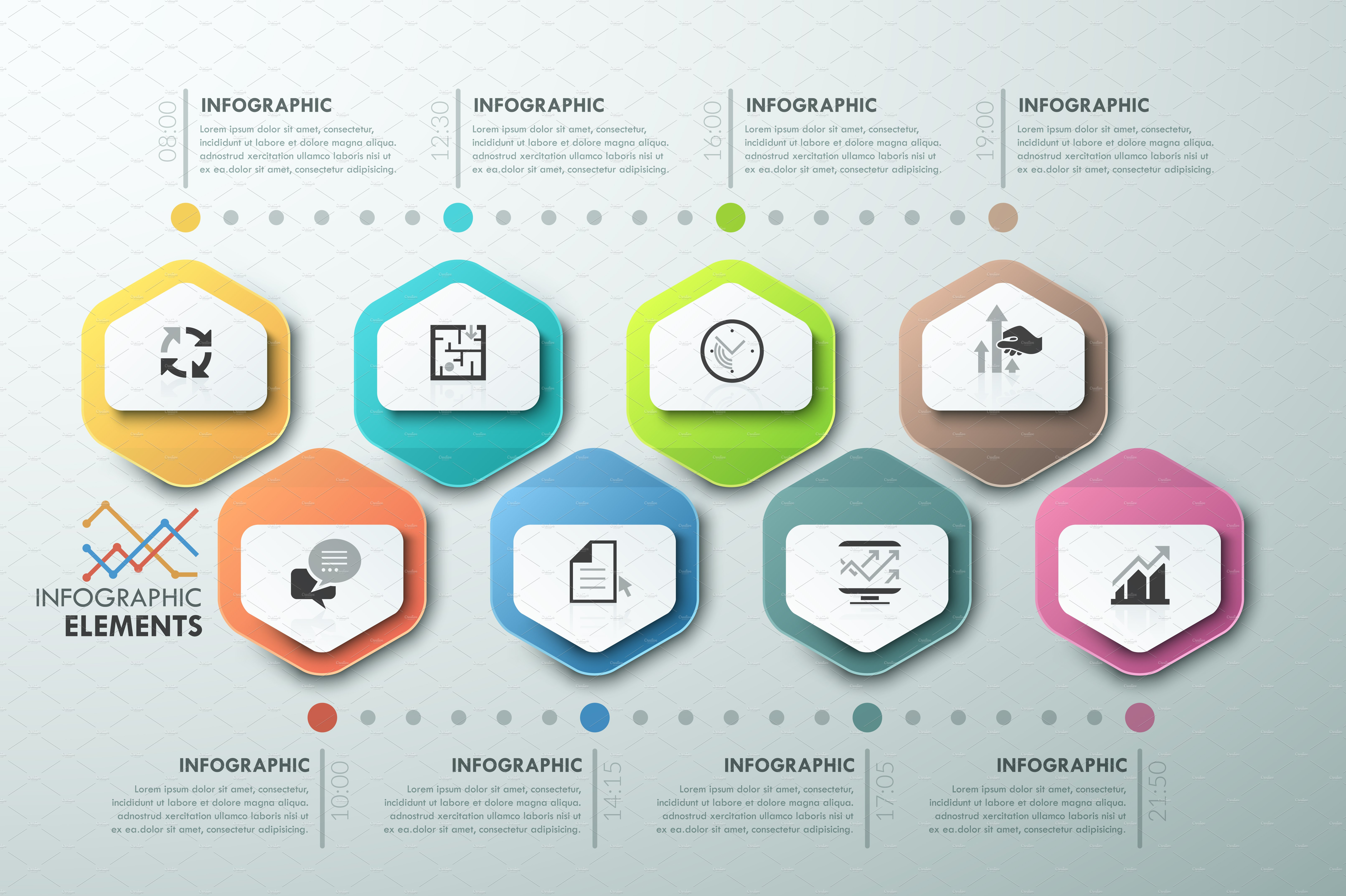 modern infographic process template ~ presentation templates