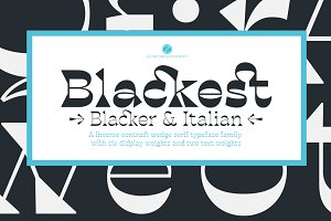 Blackest - 8 fonts 75% off!