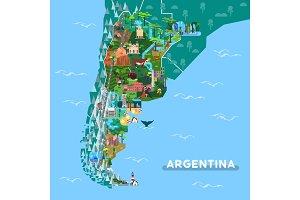 Landmarks or sightseeing places on