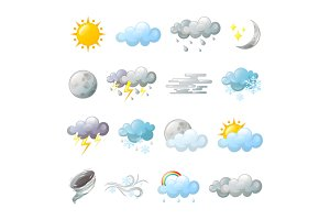 Icons for weather forecast or