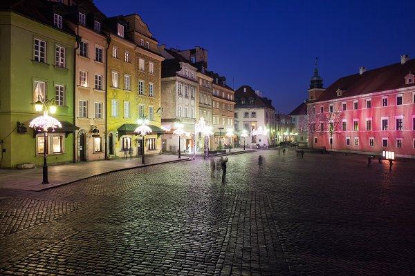 Stock Photos: Artur Bogacki - Old Town of Warsaw At Night