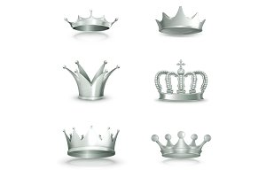 Silver crowns illustration