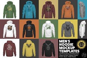 Men's Hoodie Mockup Templates