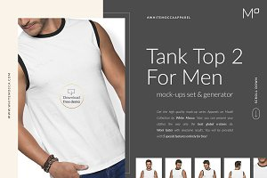 Men Tank Top Mock-ups Set FREE DEMO