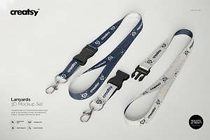 Lanyards 3D Mockup Set
