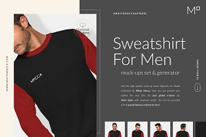 Men Sweatshirt Mockups Set FREE DEMO