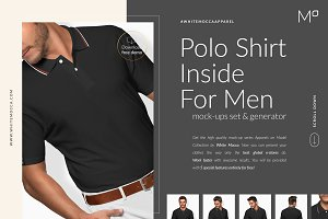 Men Polo Shirt 2 Mock-ups FREE DEMO