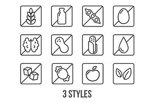 Ingredient label icons
