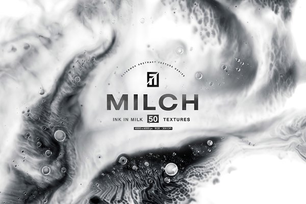 Graphics: flyerwrk - Milch - 50 Ink in Milk Backgrounds