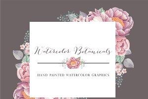 Watercolor Botanicals: Mauve & Grey