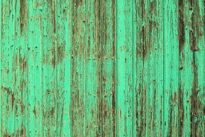 Wooden old turquoise background
