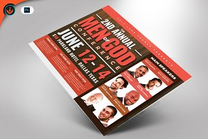 Men of God Conference Flyer Template