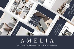 Amelia Instagram Photoshop Templates