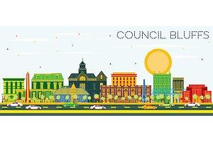 Council Bluffs Iowa Skyline