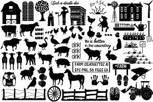 Farm & Animal Silhouettes AI EPS PNG