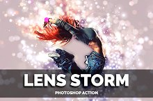 Lens Storm Photoshop Action
