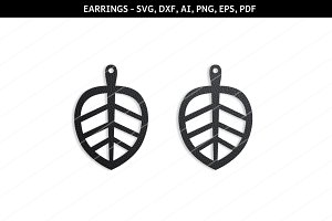 Leaf earrings svg,SVG earring,cricut