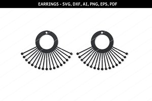 Modern earrings svg,cricut files,dxf