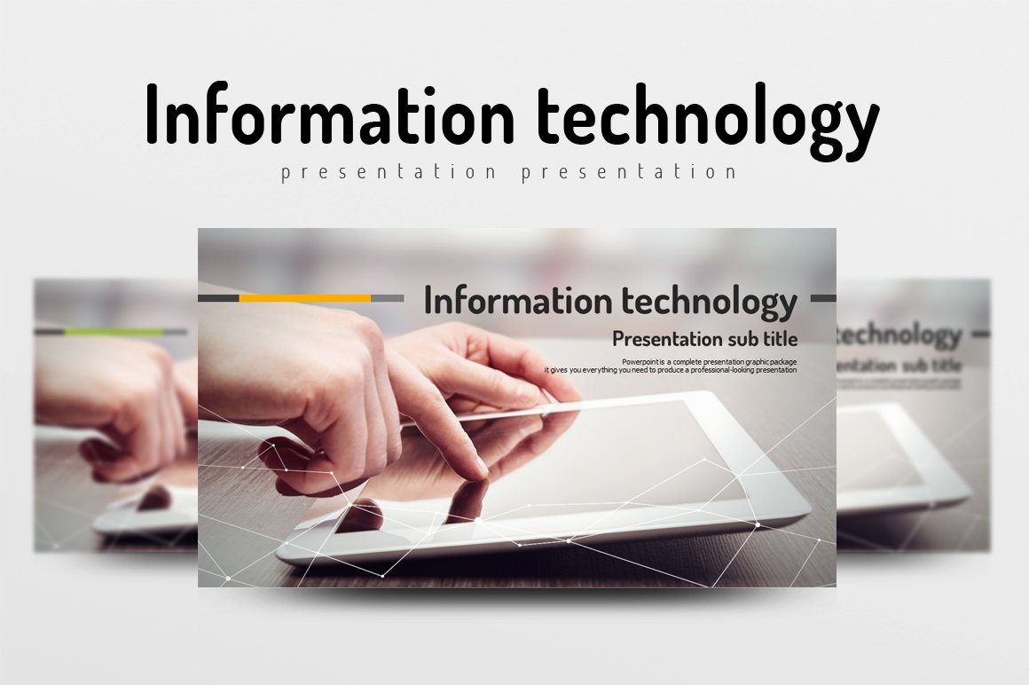 information technology presentation templates creative market