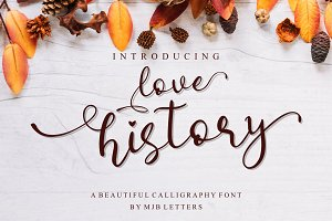 Love History Modern Script Typeface