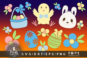 Easter clipart SVG DXF EPS PNG