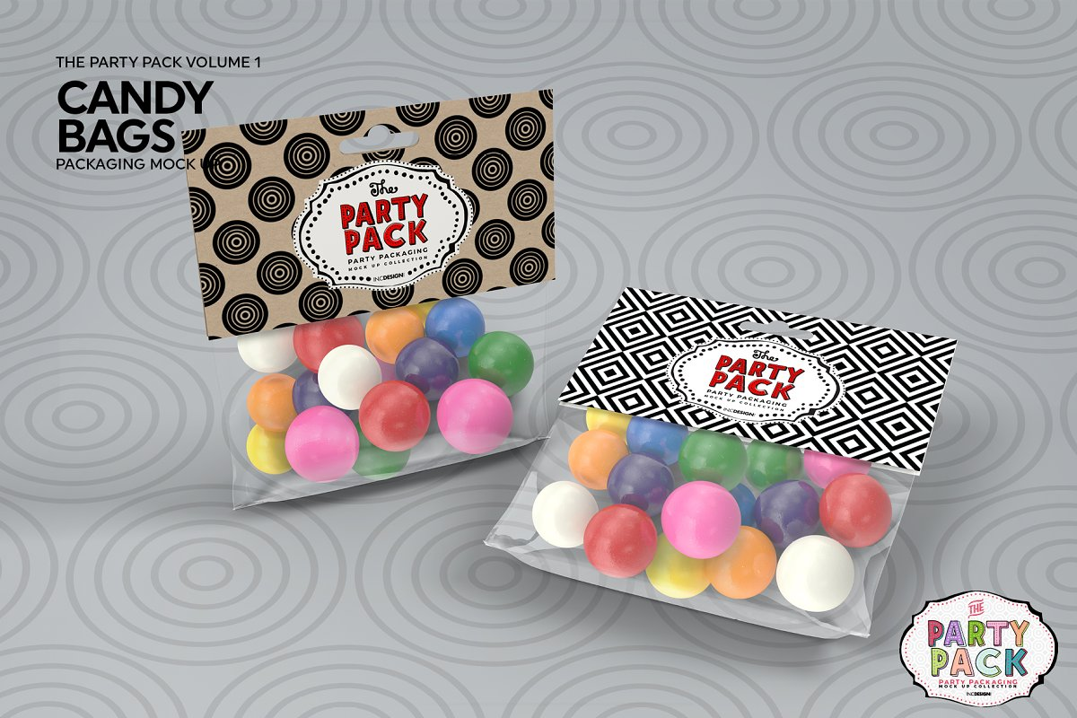 Candy Bag Packaging Mockup