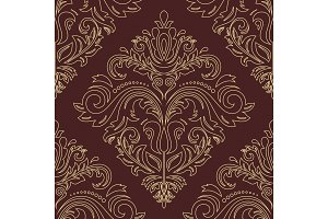 Damask Vector Orient Pattern