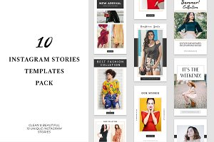 10 Instagram Stories Templates Pack