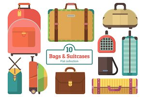 10 Bags and Suitcases