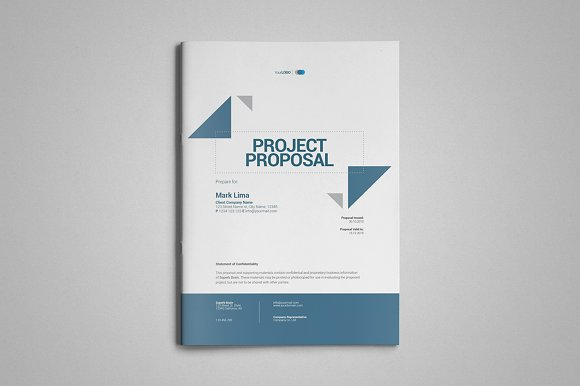 A4 project proposal template brochure templates creative market wajeb Images