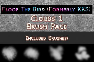 Clouds 1 brush set by FloofTheBird