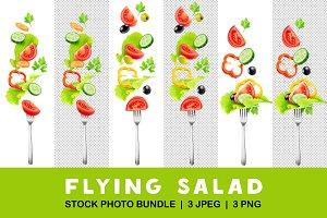 Cut fresh vegetables over a fork