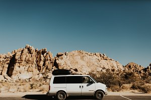 Van in Joshua Tree