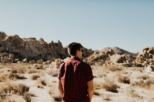 Man in Joshua Tree