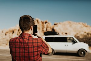 Tourist in Joshua Tree