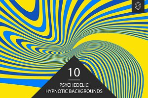 Psychedelic hypnotic backgrounds